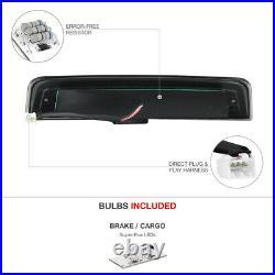 09-18 Dodge Ram 1500 5.7L Smoked Roof Cargo Light Projector Headlights Dual Halo