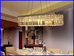 100cm Luxury K9 Crystal Pendant Light rectangle Ceiling Lamp Chandelier Lighting