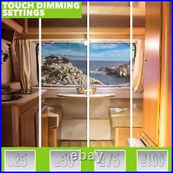 10 PK RV Interior Led Ceiling Light Camper Trailer Double Dome 12v Touch Dimmer