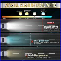 12D 50INCH Curved White Amber Strobe 2800W LED Light Bar Spot Flood Off Road 52
