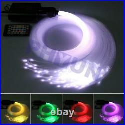 12V RGBW LED Car Star Ceiling Light Kit + 300x Fiber Optic Strip Bluetooth APP