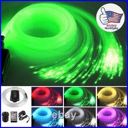 12W LED Fiber Optic Lights Music Control 12V Car roof Star Sky Effect 2m 300pcs