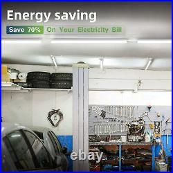 12 PACK T8 LED Shop Light 4FT 24W 6500K Linkable Garage Ceiling Lamp Clear Cover