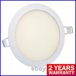 18W LED Round Recessed Ceiling Flat Panel Down Light Ultra Slim 3500K Warm White