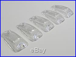 1988-2000 Chevy Gmc Vms Led Cab Roof Marker Lenses And Led Bulbs Lights Clear