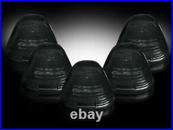 1999-2016 Ford Super Duty Smoked Cab Roof Lights w Amber LED Bulbs & Install Kit