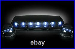 2002-2007 Chevy Silverado GMC Sierra Smoke Cab Roof Lights with White LEDs