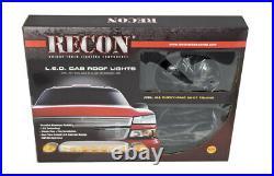 2002-2007 Chevy Silverado GMC Sierra Smoked Cab Roof Lights High Power Amber LED
