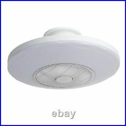 20 Ceiling Fan LED Light Remote Control 3 Color Change Round Chandelier Lamp