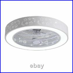 21.7 LED Ceiling Fan Light Modern Chandelier Remote 3-Speed / Warm & Cool Light