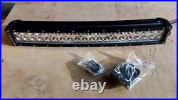 22 Curved amber beacon LED Light Bar dual colour with white driving light