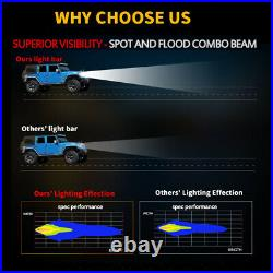 22 LED LIGHT BAR COMBO RGB Halo Color Changing Chasing Strobe Bluetooth Control