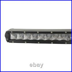 240W 50in Curved Single Row LED Light Bar Slim GMC Chevy Bumper Roof 52 300W