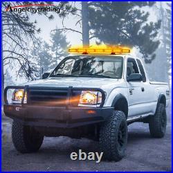 27 64 LED Roof Light Bar Tow Truck Emergency Beacon Warning Plow Strobe Amber