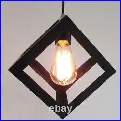 2X Black Pendant Light Kitchen Lamp Bedroom Ceiling Lights Home Pendant Lighting