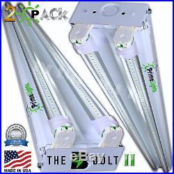 2 PACK LED SHOP LIGHT 5000K Daylight 4FT Fixture Utility Ceiling Light USA MADE