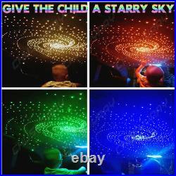 300PCS LED Car Roof Ceiling Headliner Star Light Kit Fiber Optic Remote Control