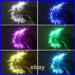 300PCS Optic Fiber LED Car RGB Dome Light Ceiling Decoration Stars for Christmas