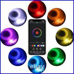 300Pcs 12V 6W RGB LED Fiber Optic Light Car Roof Star Lights RF Remote Control