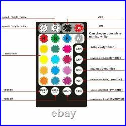 300pcs 2M LED Fiber Optic Light Star Ceiling Kit DIY Car 12v RGBW 12W Music Mode