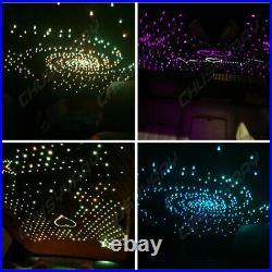 300pcs LED Twinkle Fiber Optic Light Star Ceiling Kit DIY Car 12v RGBW Decor US