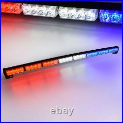 35 32 LED Car Emergency Hazard Warning Advisor Strobe Light Bar Red White Blue