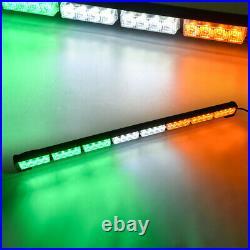 35 32 LED Emergency Hazard Warning Advisor Strobe Light Bar Amber White Green