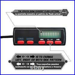 35 32 LED Emergency Warning Traffic Advisor Arrow Strobe Light Bar Amber White