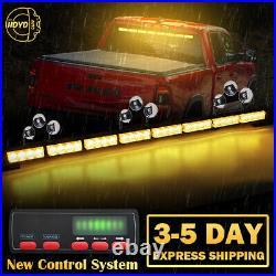 35 32 LED Emergency Warning Traffic Advisor Arrow Strobe Light Bar Amber Yellow