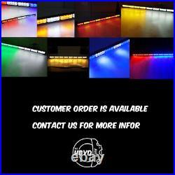 35 32 LED Traffic Advisor Emergency Hazard Warning Strobe Light Bar Amber White