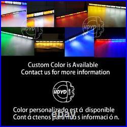 35 32 LED Traffic Advisor Emergency Hazard Warning Strobe Light Bar Blue White