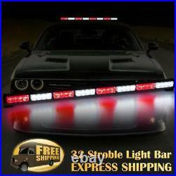 35 32 LED Traffic Advisor Emergency Hazard Warning Strobe Light Bar Red White