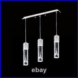 3 Lights NEW modern LED Bubble Crystal Ceiling Light restaurant Bar Pendant Lamp