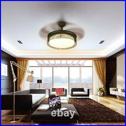 42 Ceiling Fan Light LED 3 Adjustable Colors Modern Style Room Decor with Remote