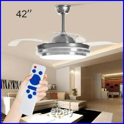 42'' Ceiling Fan Light with Lighting LED Light Adjustable Wind Speed Remote new