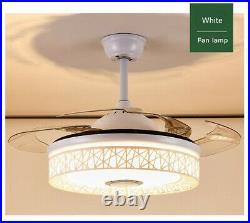 42 Ceiling Fans Light Chandelier Remote & Bluetooth Control Speaker Fixtures