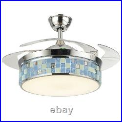 42 Chandelier Lamp LED Ceiling Fan Light + Remote Control Reverse Airflow