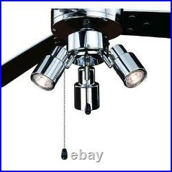 42 Chrome 3 Light LED Ceiling Fan with Light Kit