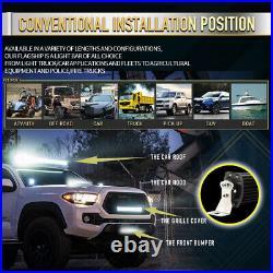 42 INCH Amber CURVED LED Light Bar Dual Color 3 Rows Spot Flood Combo UTV SUV