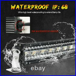 42 Inch 12D Strobe CURVED 3260W LED LIGHT BAR Spot Flood Beam OFF ROAD Truck 44