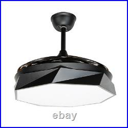 42 Modern Invisible Reversal Ceiling Fan LED Light Chandelier Lamp Remote