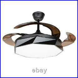42 Modern Style Ceiling Fan with LED Light Macaron Home Decor with Remote Control
