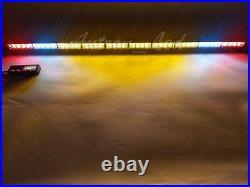 44 Inch LED Lightbar Emergency Response Strobe Amber with CARGO & BRAKE Light 40W