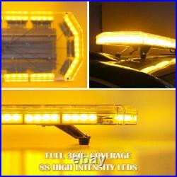 48 88LED Amber Roof Strobe Light Bar Tow Truck Emergency Beacon Warning Plow