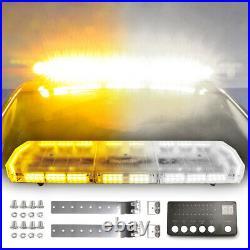 48 88LED Amber/Yellow Roof Top Strobe Light Bar Safety Hazard Emergency Warning