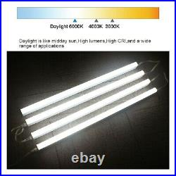 4FT 4 Pack LED Shop Light T8 Linkable Ceiling Tube Fixture 24W Daylight 6000K