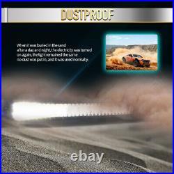 50 2800W Curved Tri-Row LED Light Bar Spot Flood Amber&White Strobe Wiring 52