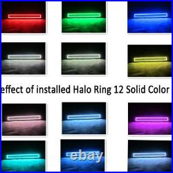 50 LED Light bar + 4x 3'' Pods with Remote RGB Halo Multi Color Change Chasing