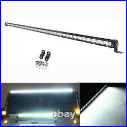 50inch 144W Slim LED Work Light Bar Single Row Combo Offroad Driving Car Truck