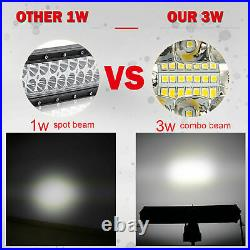 52INCH 3000W 3 Row Curved LED LIGHT BAR Spot Flood COMBO offroad BOAT VS 50 54